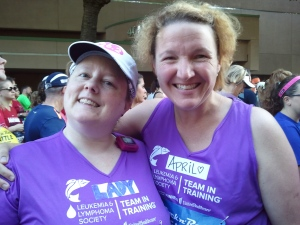 April and Lyda, pre-race.